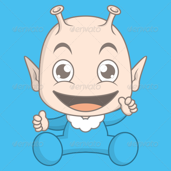 GraphicRiver Alien Baby 7090868