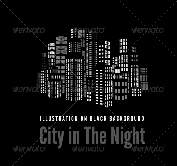 GraphicRiver City with Buildings and Skyscrapers 7092447