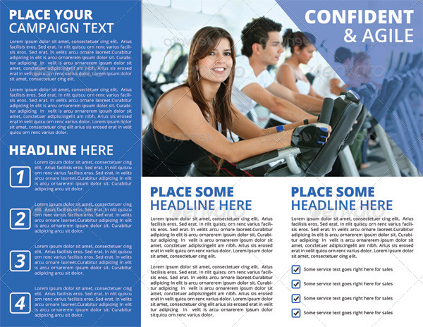 Fitness and Gym TriFold Brochure by letsjustdesign – Gym Brochure