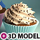 3 cupcakes 3d models