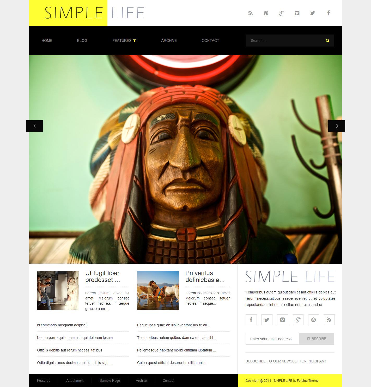 Simple Life - WordPress Blog Theme, AdSense Ready - simple life wordpress theme - attachment template