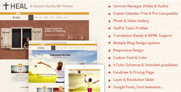 Heal Church & Charity WordPress Theme - Churches Nonprofit