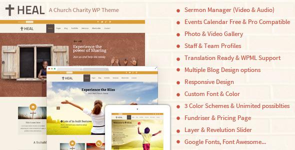 Heal Church & Charity WordPress Theme