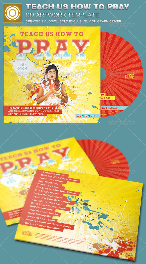 GraphicRiver Teach us How to Pray CD Artwork Template 7093042