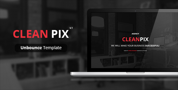 ThemeForest CleanPix Unbounce Template 7093162