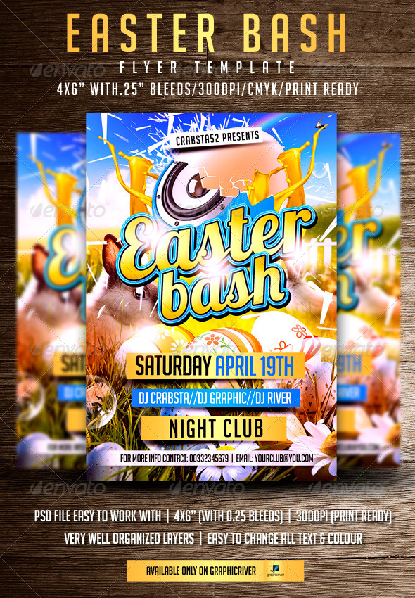 GraphicRiver Easter Bash Flyer Template 7093394