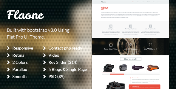 ThemeForest Flaone Flat UI Pro One Page 7093513