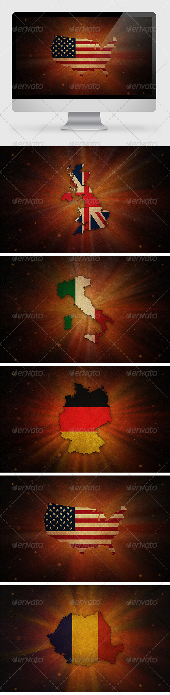 GraphicRiver 5 Countries Backgrounds 7093719