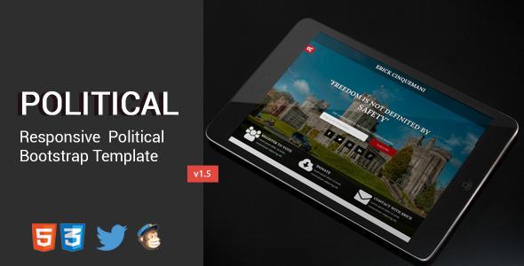 Political HTML5/CSS3 Responsive Landing Page - Political Nonprofit
