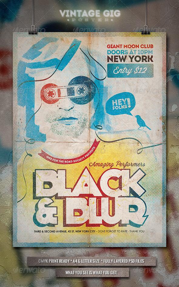 GraphicRiver Vintage GIG Poster III 7094533