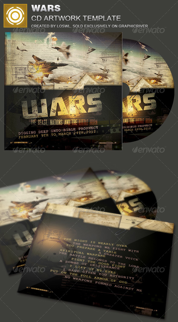 GraphicRiver Wars CD Artwork Template 7094818
