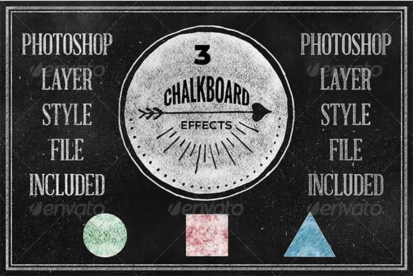 GraphicRiver Chalkboard Photoshop Layerstyle 7095037