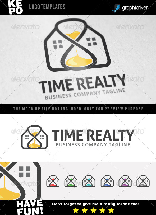 GraphicRiver Time Realty Logo 7044347