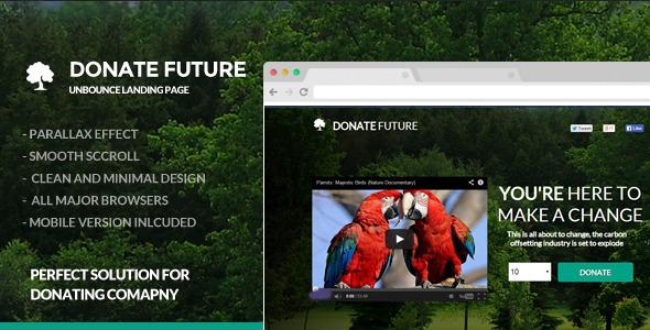 ThemeForest DonateFuture Donation Funding Landing Page 7095088