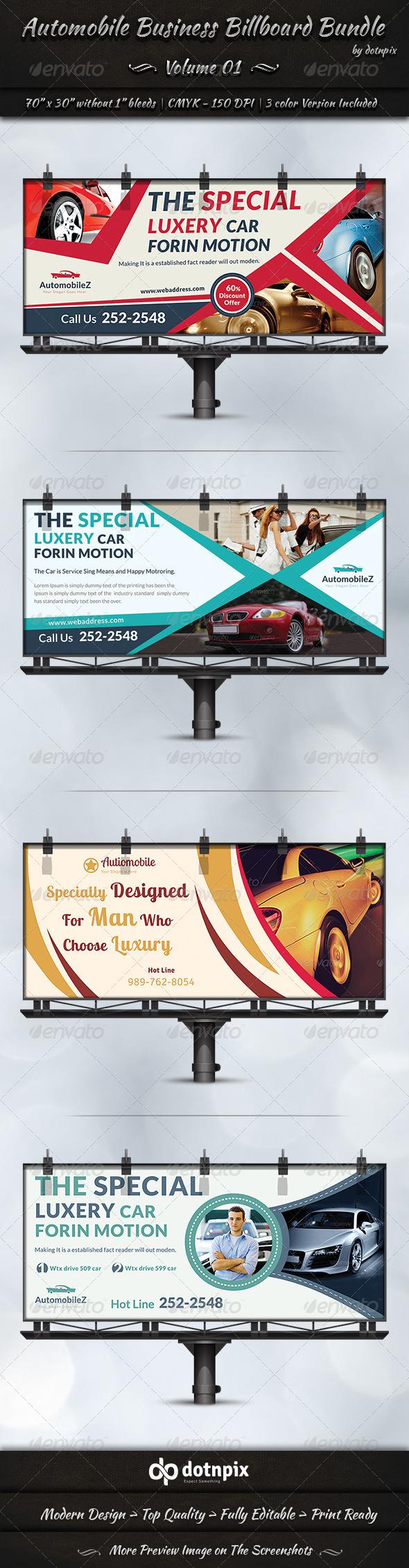 GraphicRiver Automobile Business Billboard Bundle Volume 1 7095094