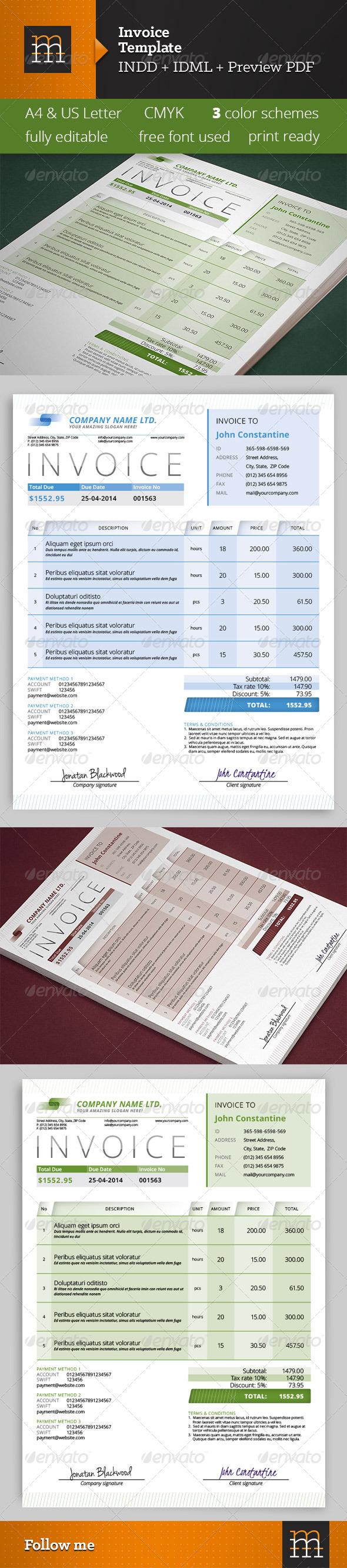 GraphicRiver Invoice Template 7095280