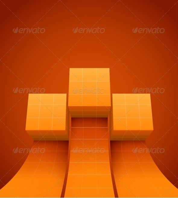 GraphicRiver Abstract Cubes Moving Up 7095447