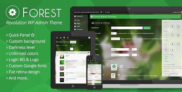 CodeCanyon Forest Revolution Wordpress Admin Theme 7095485