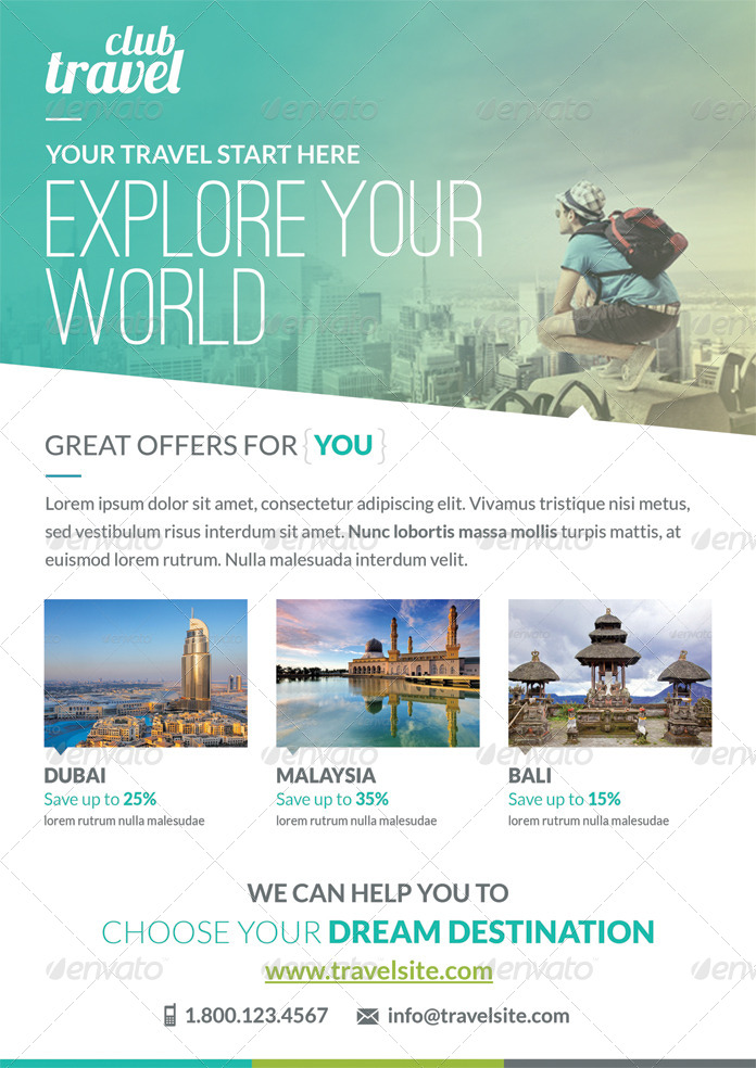 Travel - Vacation Flyer Template by webduck | GraphicRiver