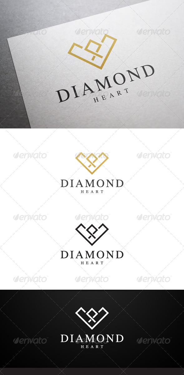GraphicRiver Diamond Heart Logo 7096536