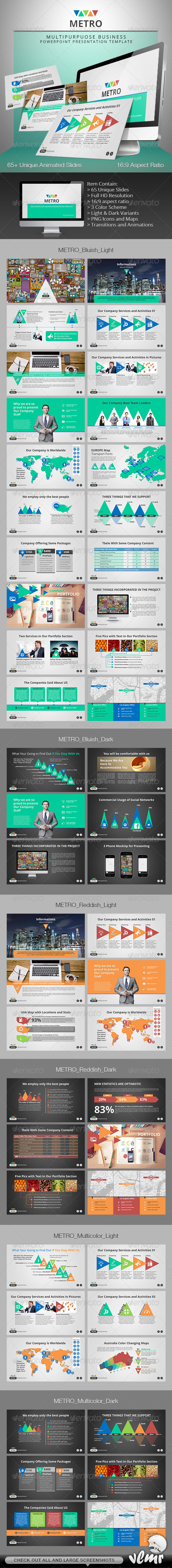 GraphicRiver Metro Multipurpose PowerPoint Presentation 7085671