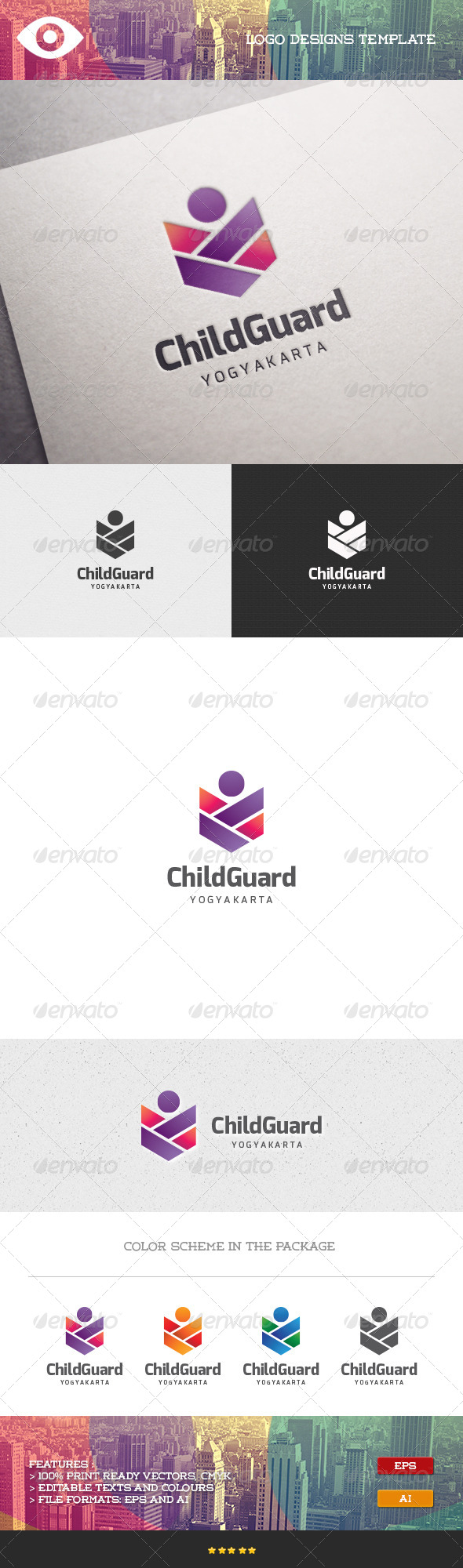 GraphicRiver Child Guard Logo 7096700