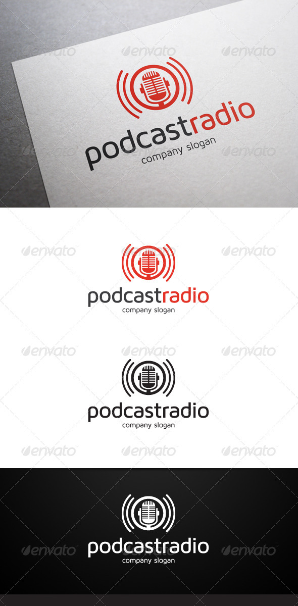 podcast script template - podcast radio logo graphicriver