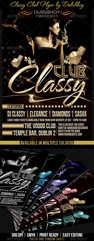 GraphicRiver Classy Club Flyer 7097120