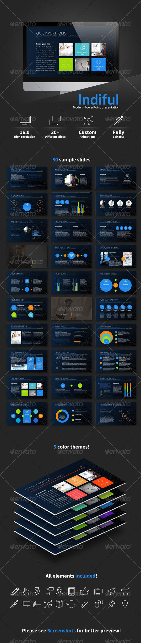 GraphicRiver Indiful PowerPoint presentation 7097199