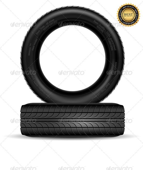 GraphicRiver Black Tire 7097200