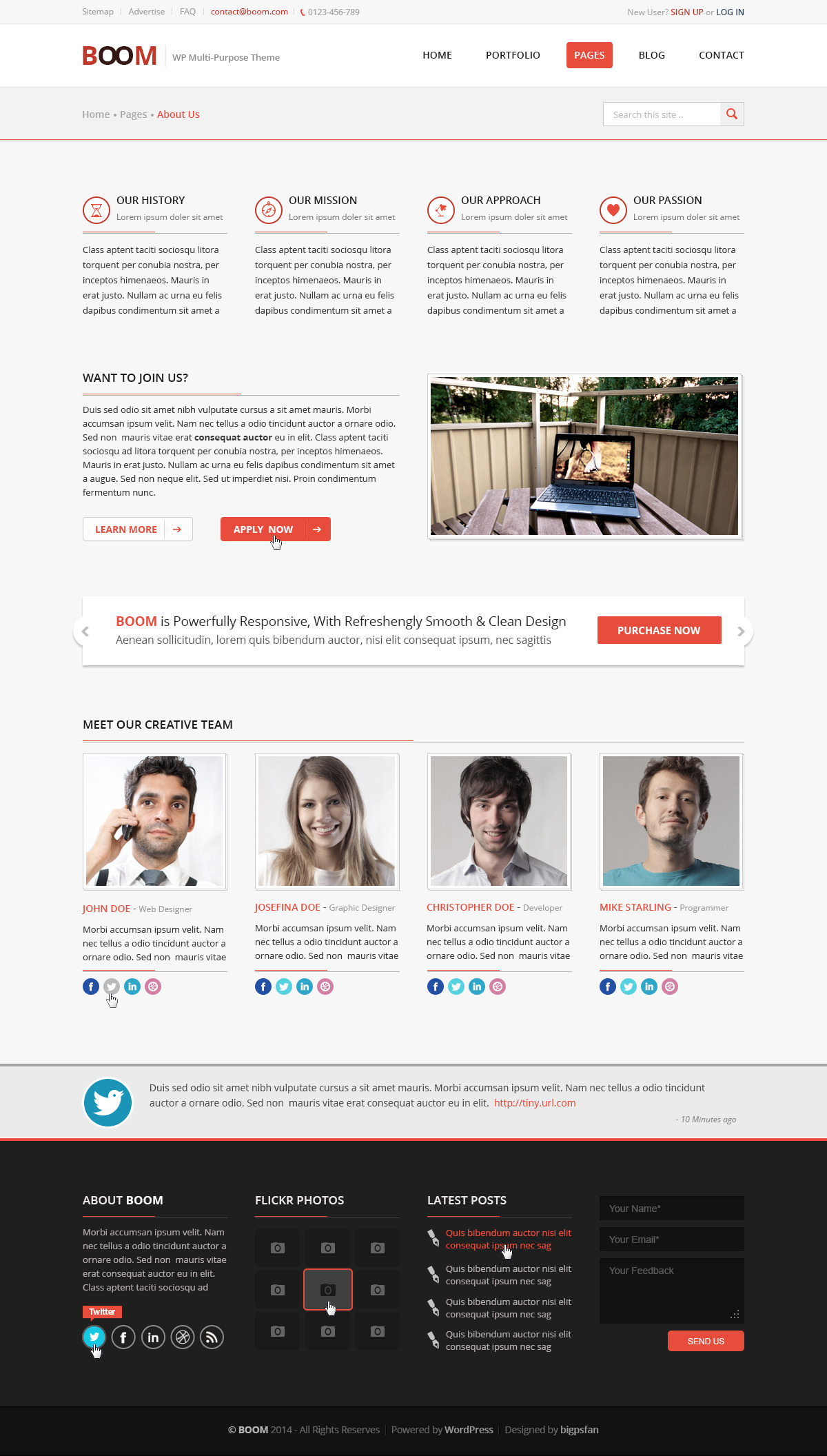 BOOM - Multi-Purpose Corporate PSD Theme