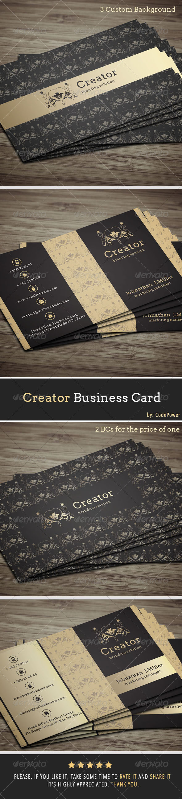GraphicRiver Creator Business Card 7097701