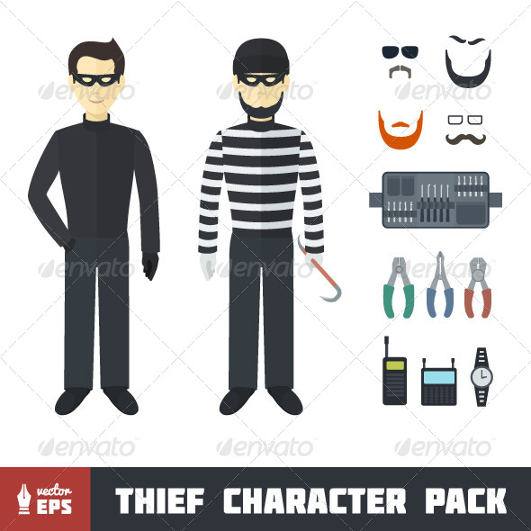 GraphicRiver Thief Character Set 7098162