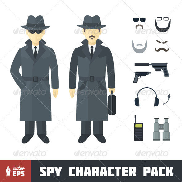 GraphicRiver Spy Character Set 7098206