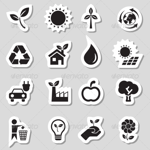 GraphicRiver Ecology Icons as Labes 7098246