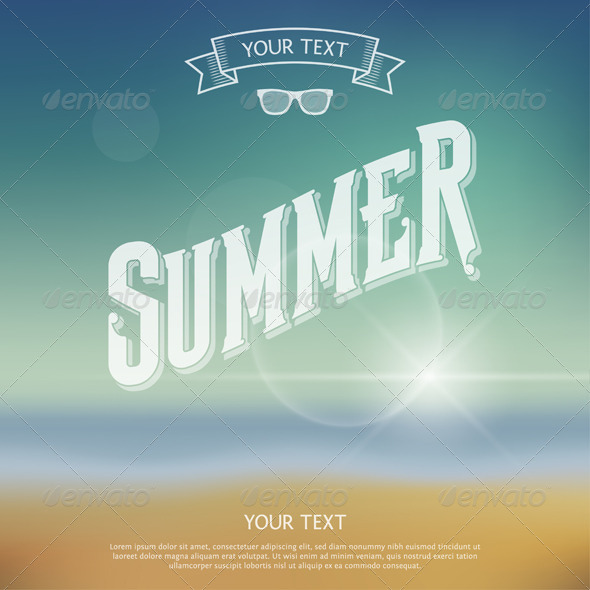 GraphicRiver Summer Label 7098289