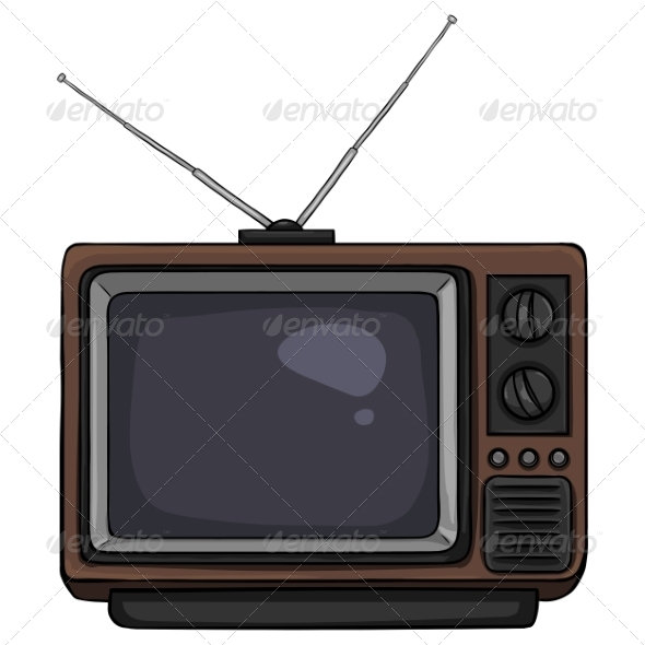 GraphicRiver Cartoon Retro TV 7098293