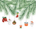 toys on Christmas tree vector - PhotoDune Item for Sale