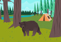 Bear in the woods vector - PhotoDune Item for Sale