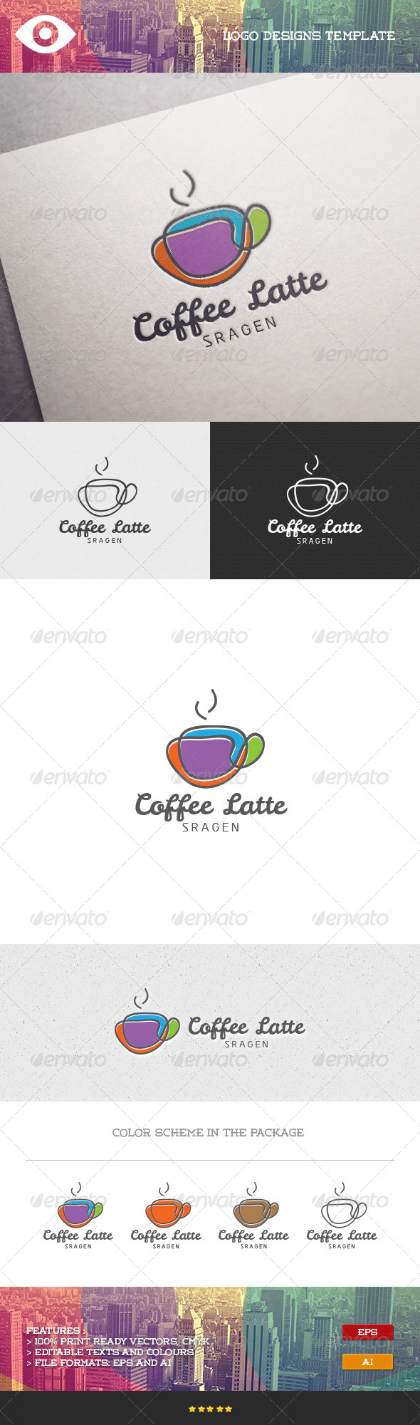 GraphicRiver Coffee Latte Logo 7098304