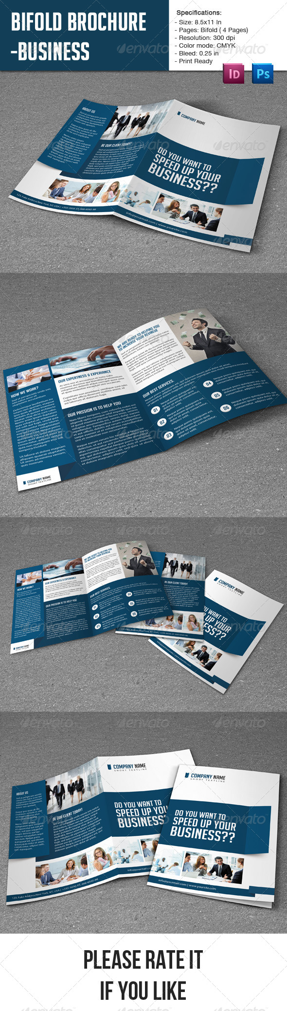 GraphicRiver Bifold Brochure- Business 7098308