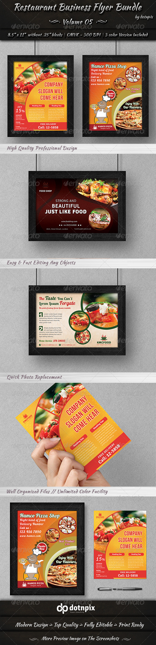 GraphicRiver Restaurant Business Flyer Bundle Volume 5 7098822