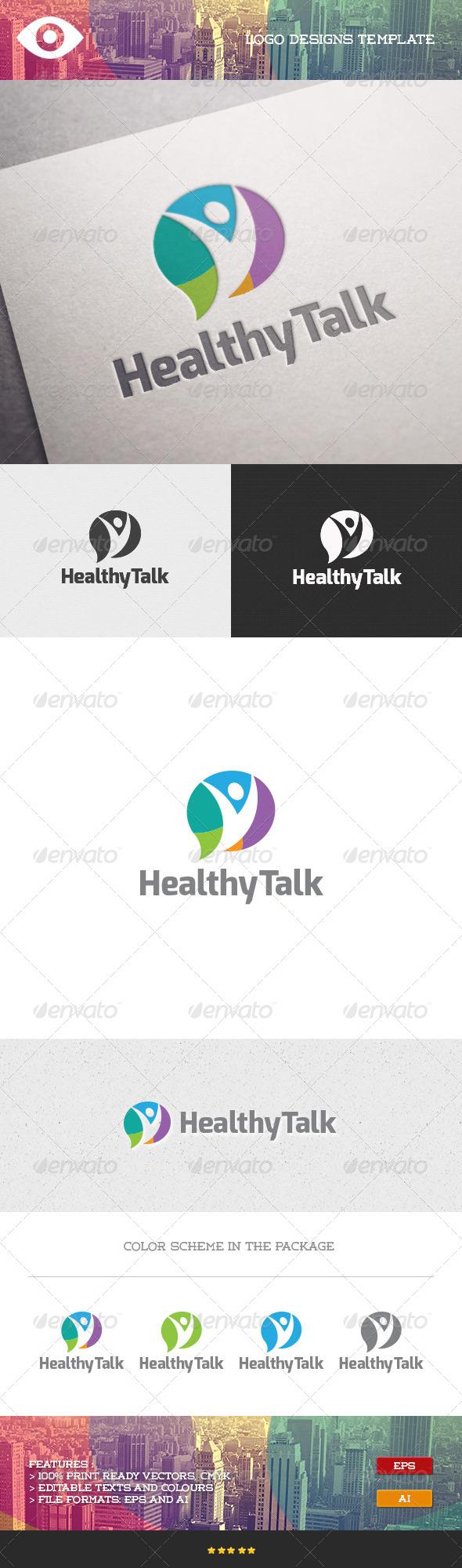 GraphicRiver Healthy Talk Logo 7098824