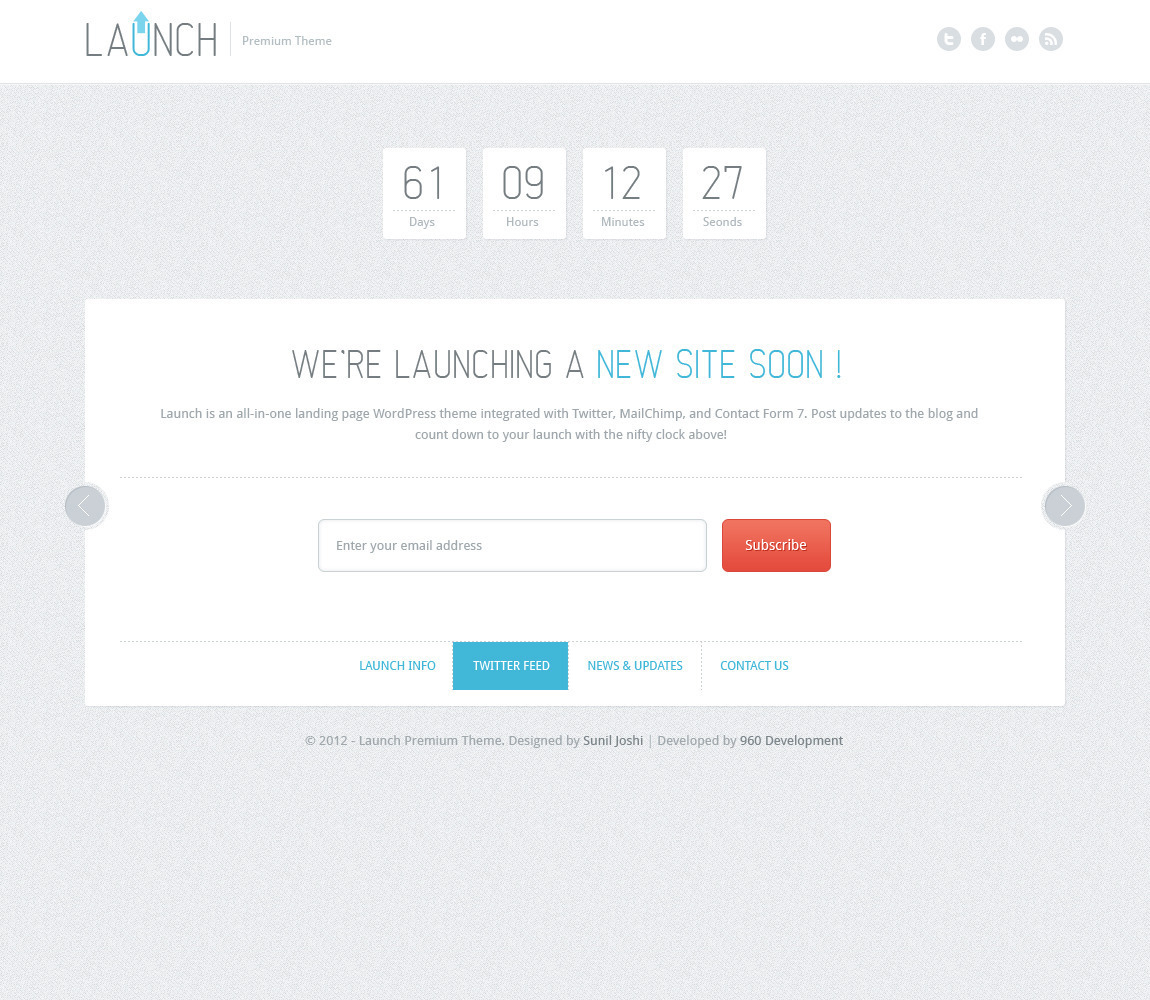 Launch Wordpress Theme