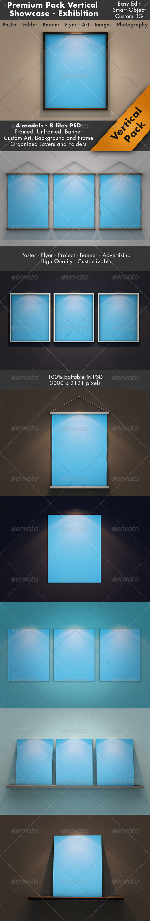 GraphicRiver Vertical Showcase Mockup Pack 7099104
