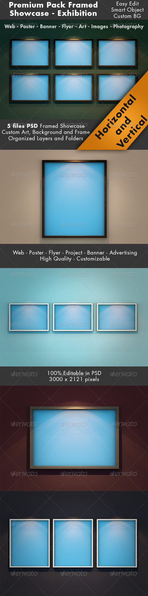 Framed Showcase Mockup Pack - Miscellaneous Product Mock-Ups