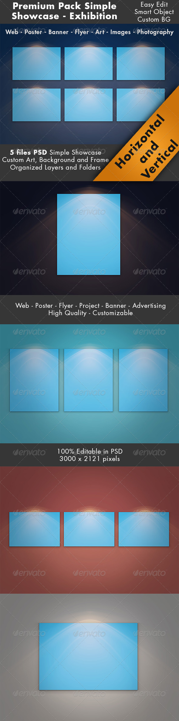 Simple Showcase Mockup Pack - Posters Print