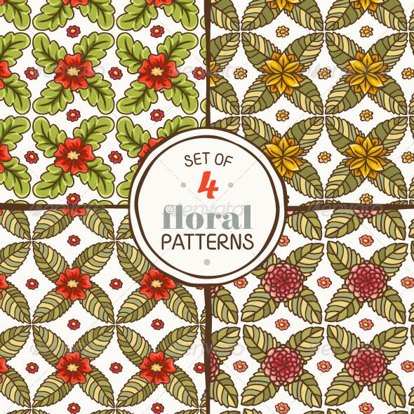 GraphicRiver Set of Floral Patterns 7099122