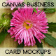 Canvas Business card mockups