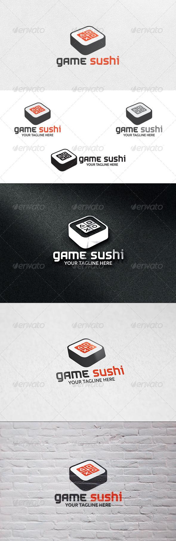 GraphicRiver Game Sushi Logo Template 7101068